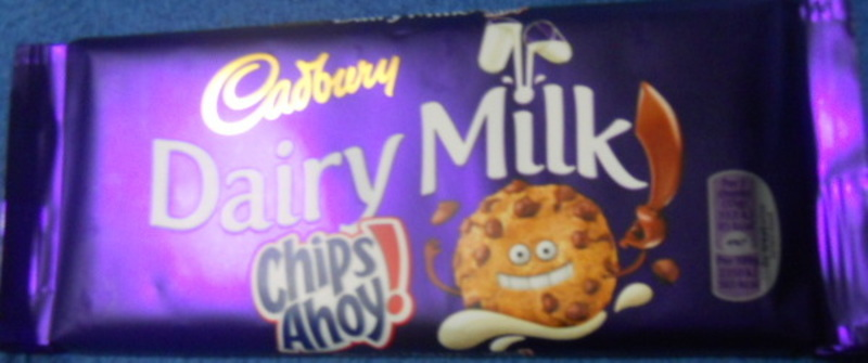 cadbury's, dairy milk, chips ahoy