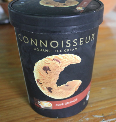 Connoisseur ice cream, chocolate ice cream, dessert