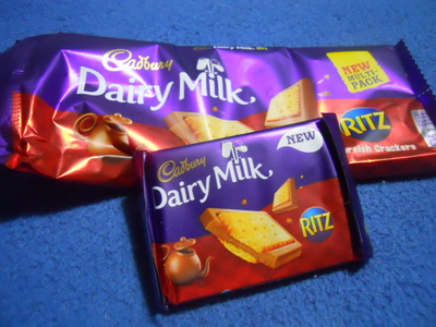 dairy milk, cadbury's, ritz