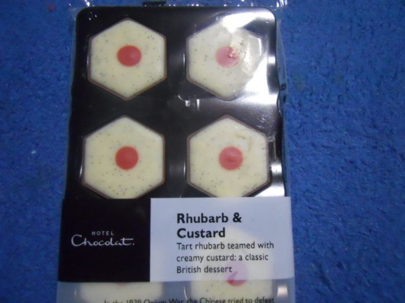 hotel chocolat, rhubarb and custard