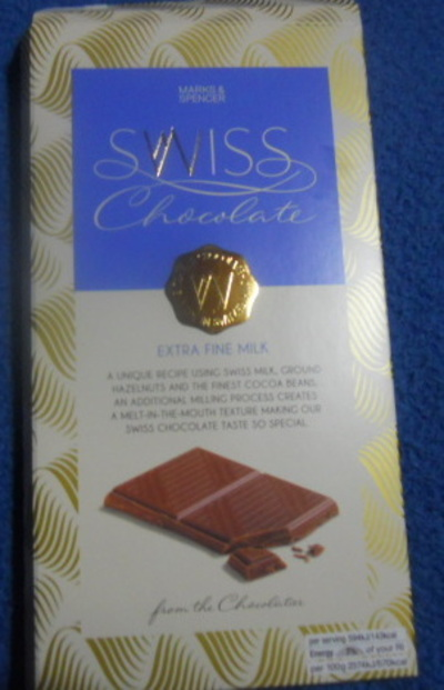 marks and spencers, swiss milk chocolate