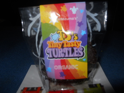 montezumas, tiny turtles, chocolate